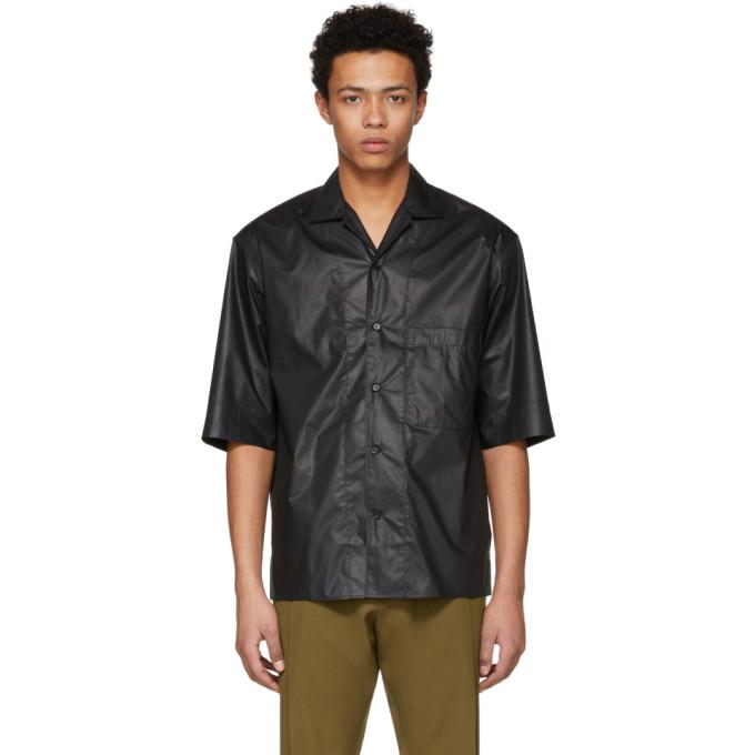 Lemaire Chemise boutonnée noire One-Pocket