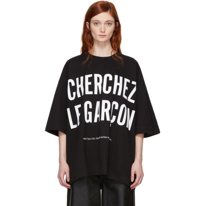 Image of Études Black 'Cherchez Le Garçon' Desert T-Shirt