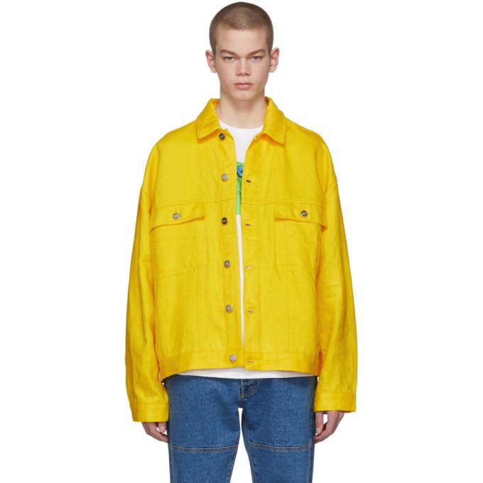 Études Yellow Linen Denim Vertige Jacket