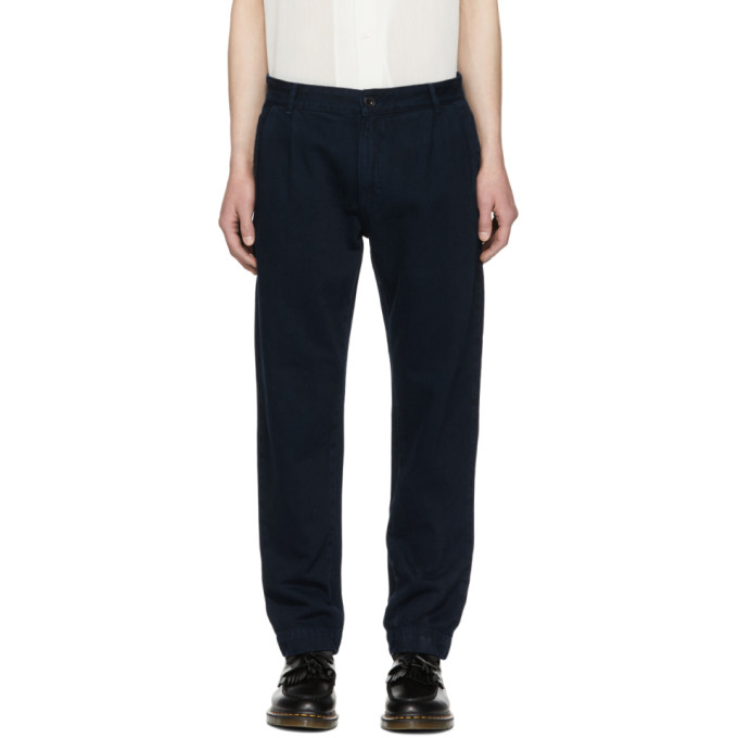 Études Navy Denim Archives Trousers