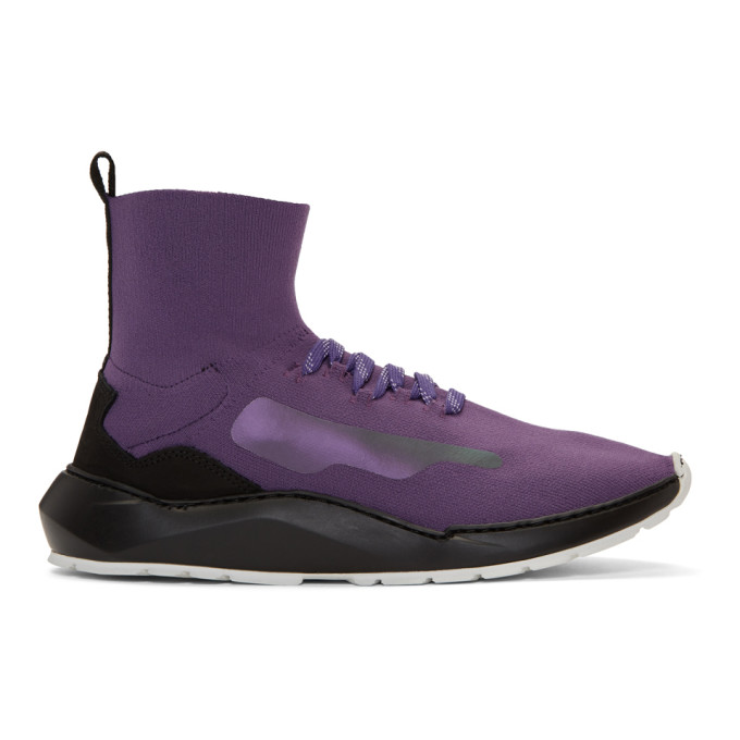 Image of Filling Pieces Purple Mid Knit Arch Runner Sneakers