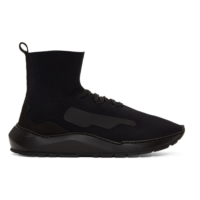 Image of Filling Pieces Black Mid Knit Arch Sneakers