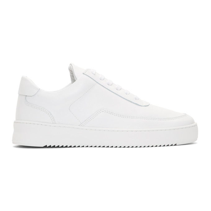 Image of Filling Pieces White Low Mondo Ripple Sneakers