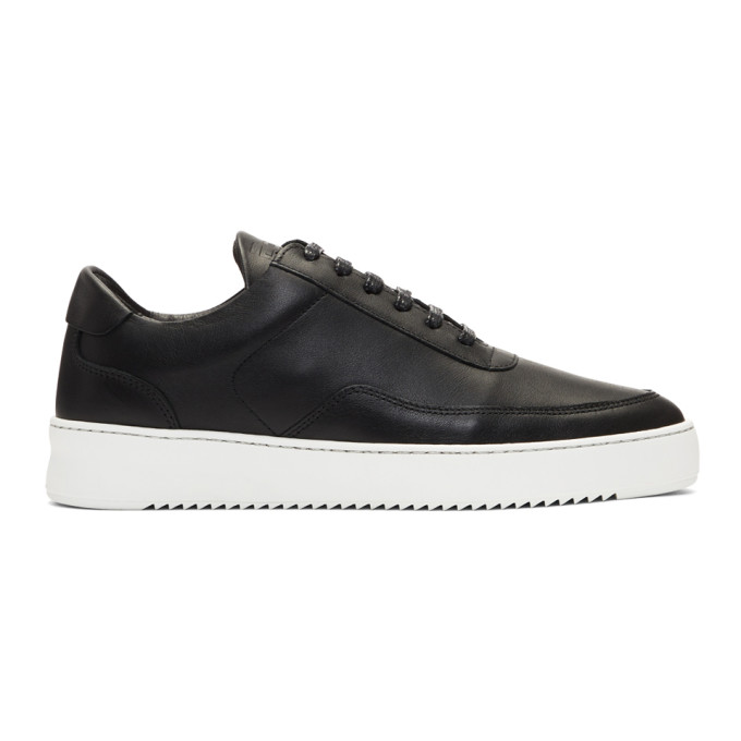 Image of Filling Pieces Black Low Mondo Ripple Sneakers