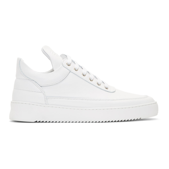 Image of Filling Pieces White Low Ripple Sneakers