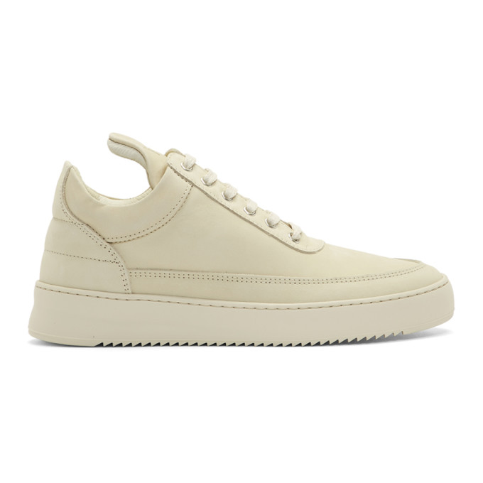 Image of Filling Pieces Beige Low Ripple Sneakers