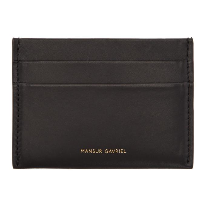 Image of Mansur Gavriel Black Credit Card Holder