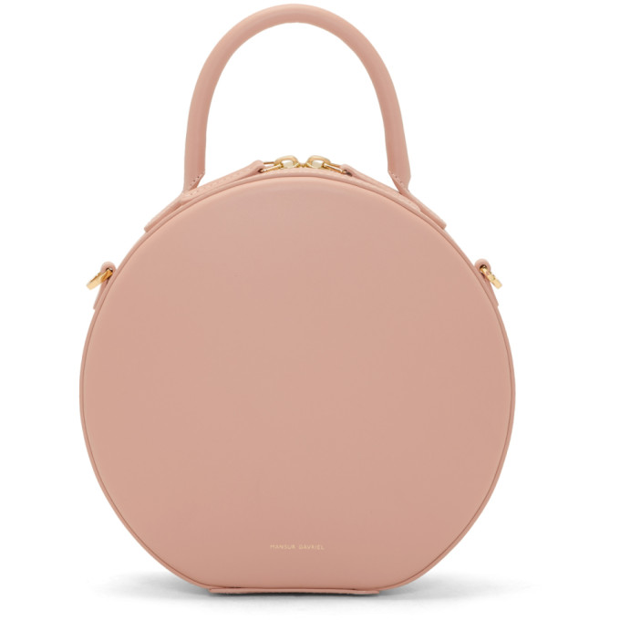 Mansur Gavriel Pink Mini Circle Crossbody Bag