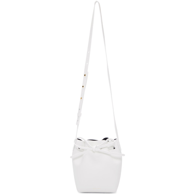 Mansur Gavriel White Mini Mini Bucket Bag