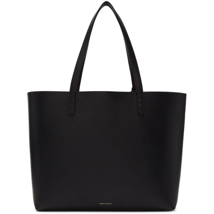 Mansur Gavriel Black Leather Large Tote