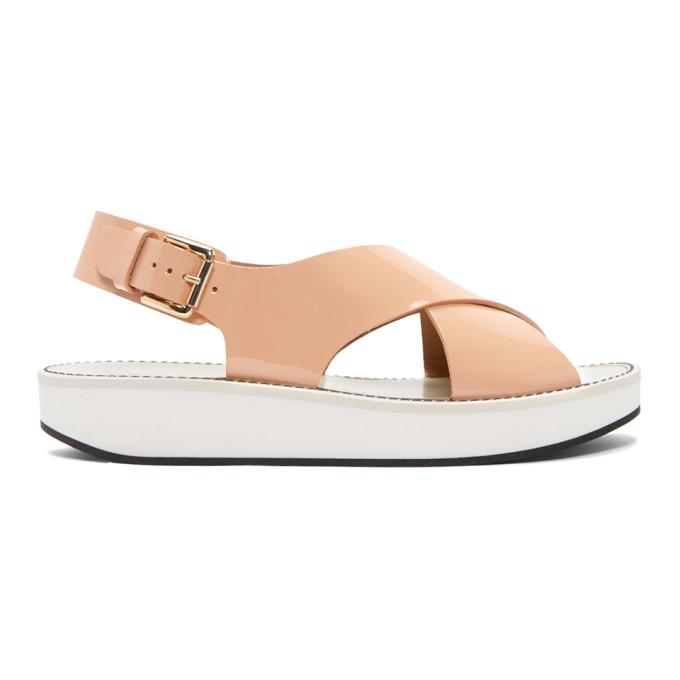 Image of Flamingos Pink Patent Avalon Sandals
