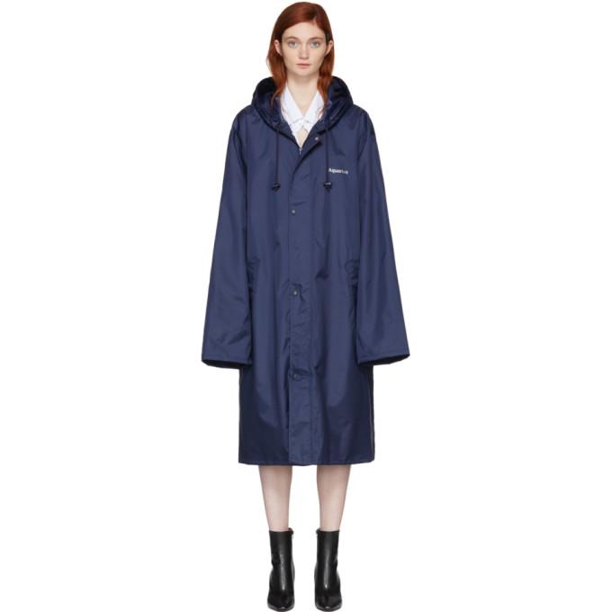 Vetements Navy Aquarius Horoscope Raincoat