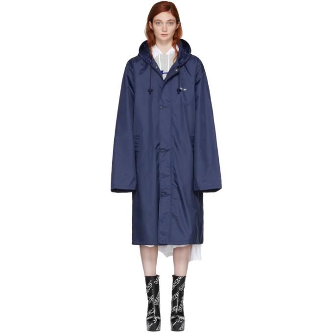 Vetements Navy Virgo Horoscope Raincoat