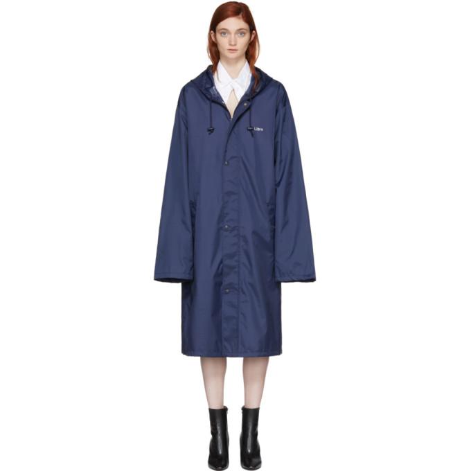 Vetements Navy Libra Horoscope Raincoat