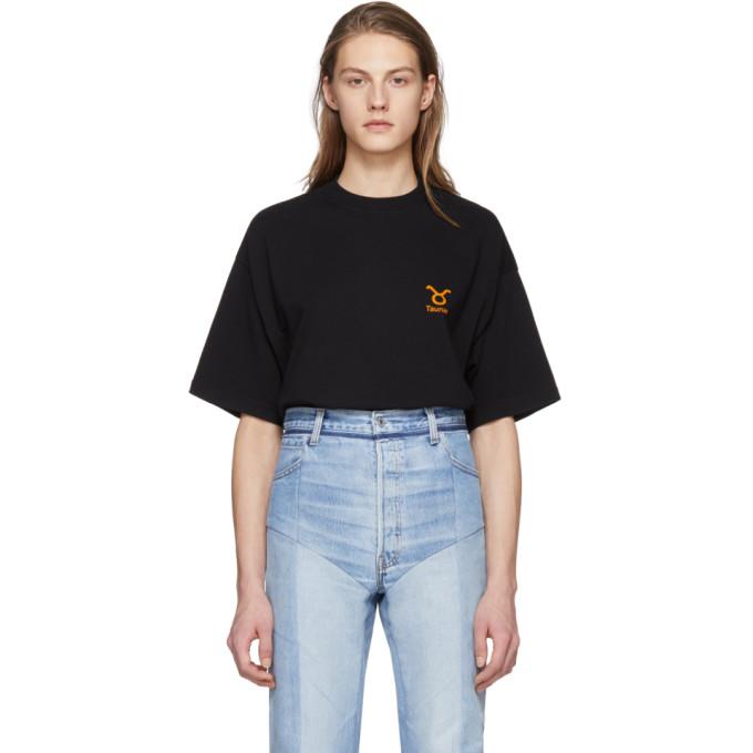 Vetements Black Taurus Horoscope T-Shirt