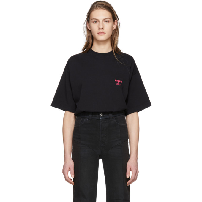 Vetements Black Libra Horoscope T-Shirt