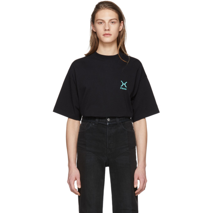 Vetements Black Pisces Horoscope T-Shirt