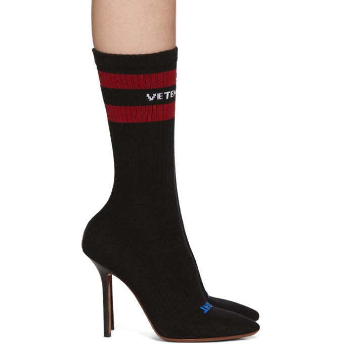 Image of Vetements Black Sock Boots