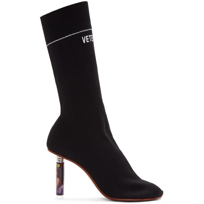 Vetements Black Lighter Heel Sock Boots