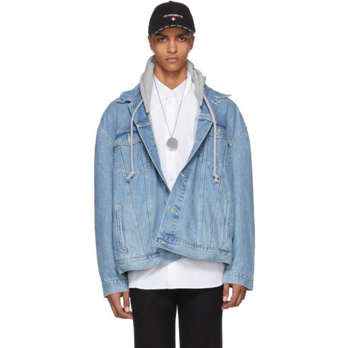 Vetements ブルー Levi's Edition オーバーサイズ フード デニム ジャケット