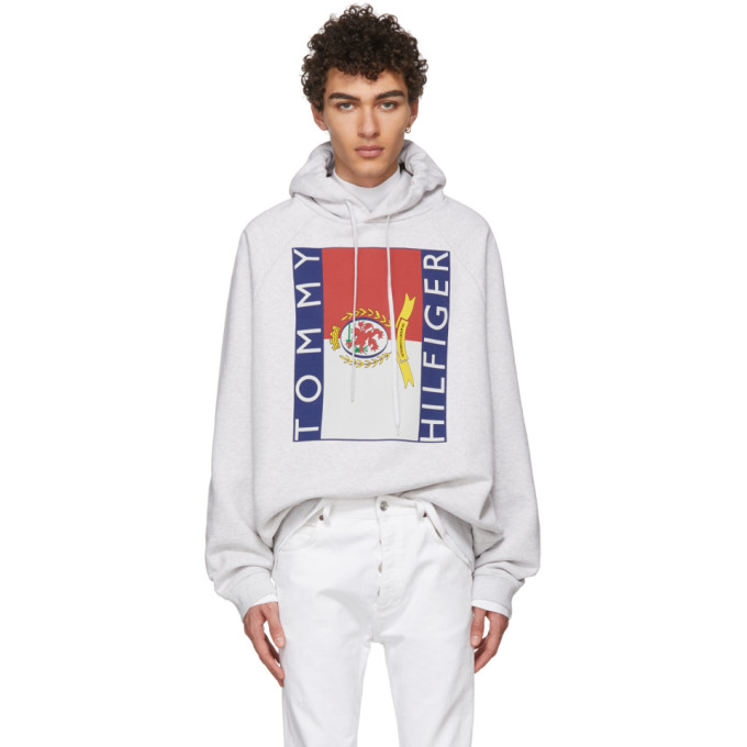 Vetements Grey Tommy Hilfiger Edition Hoodie