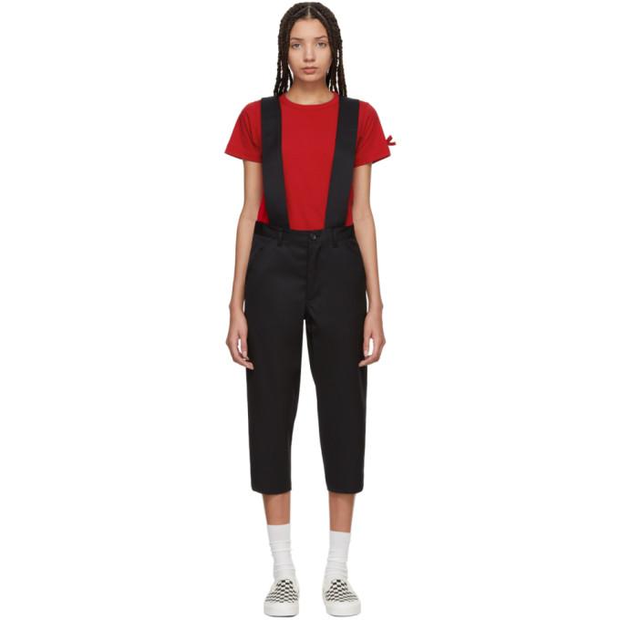 Image of Comme des Garçons Girl Black Wool Suspender Trousers