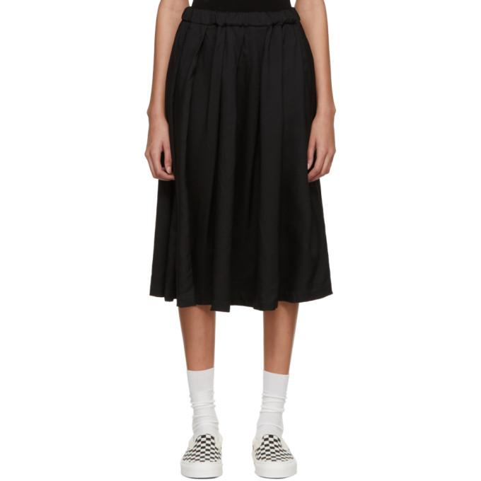 Image of Comme des Garçons Girl Black Crinkle Skirt