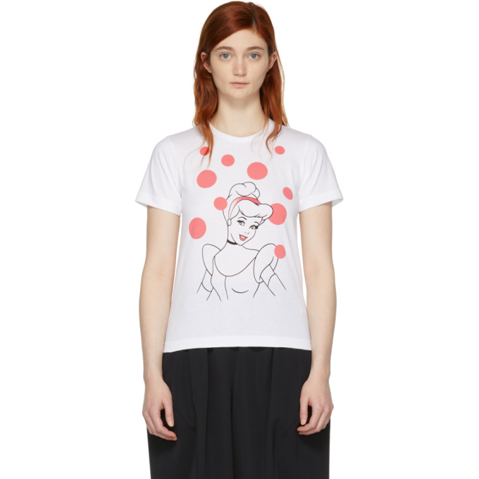 Image of Comme des Garçons Girl White Disney Edition Cinderella T-Shirt