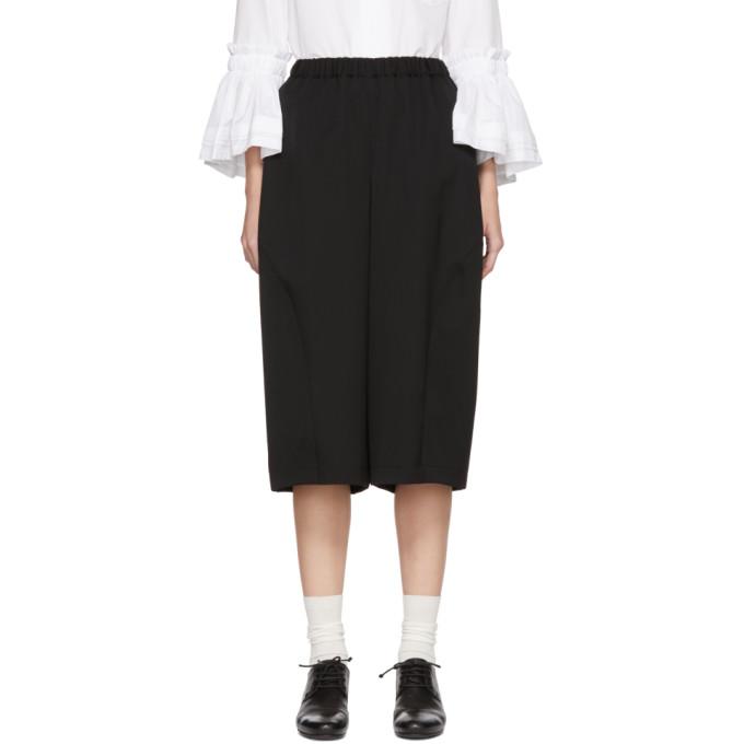 Image of Comme des Garçons Comme des Garçons Black Side Panel Wide-Leg Trousers