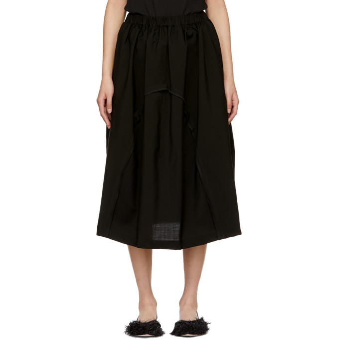 Image of Comme des Garçons Comme des Garçons Black Round Panel Skirt