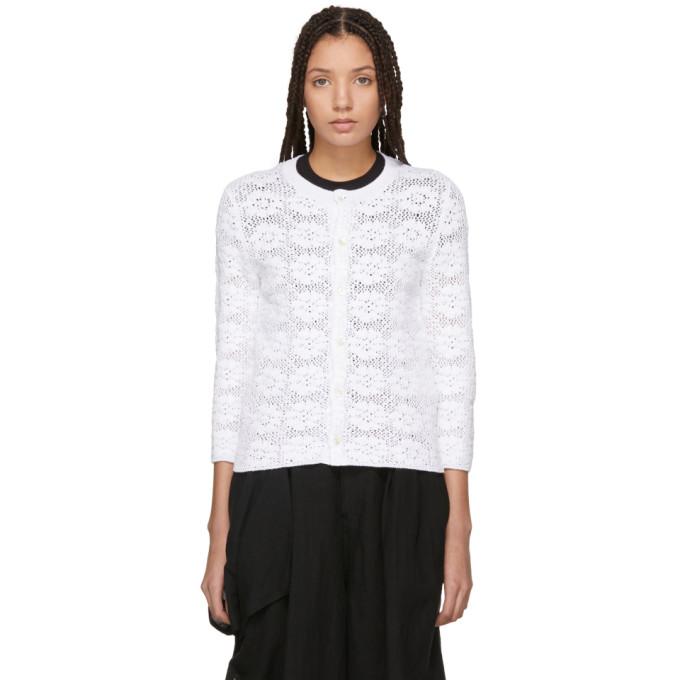 Image of Comme des Garçons Comme des Garçons White Lace Cardigan
