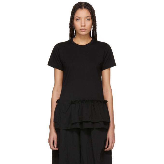 Image of Comme des Garçons Comme des Garçons Black Ruffle T-Shirt