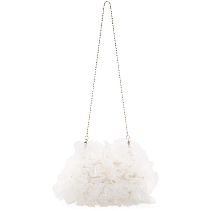 Image of Noir Kei Ninomiya White PVC & Tulle Bag