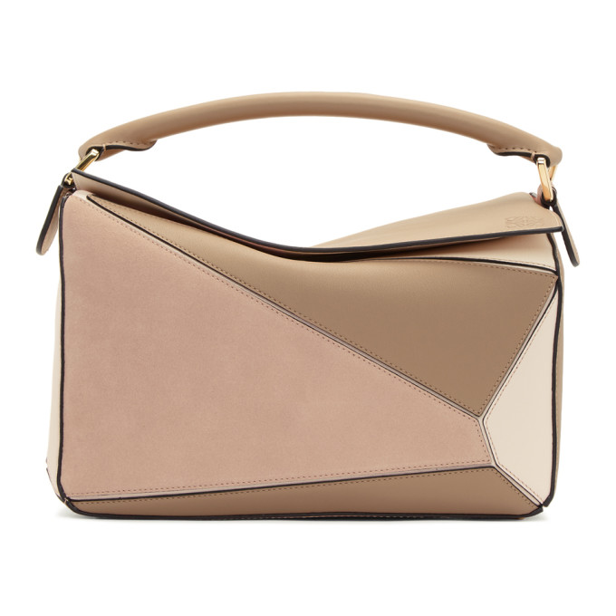 Loewe Pink Medium Puzzle Bag