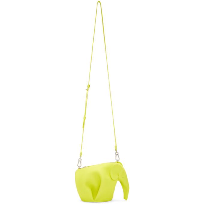 Loewe Yellow Mini Elephant Bag