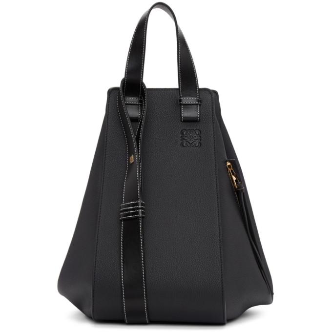 Loewe Navy & Black Medium Hammock Bag