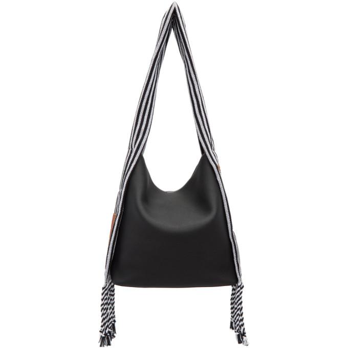 Loewe Black Scarf Bucket Tote