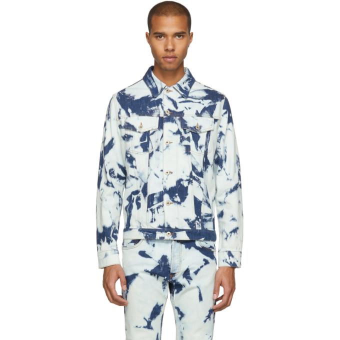 Loewe ブルー ブリーチ デニム ジャケット