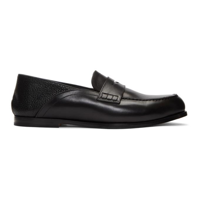 Loewe Black Convertible Penny Loafers
