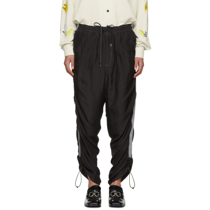 Image of Toga Virilis Black Silk Lounge Pants
