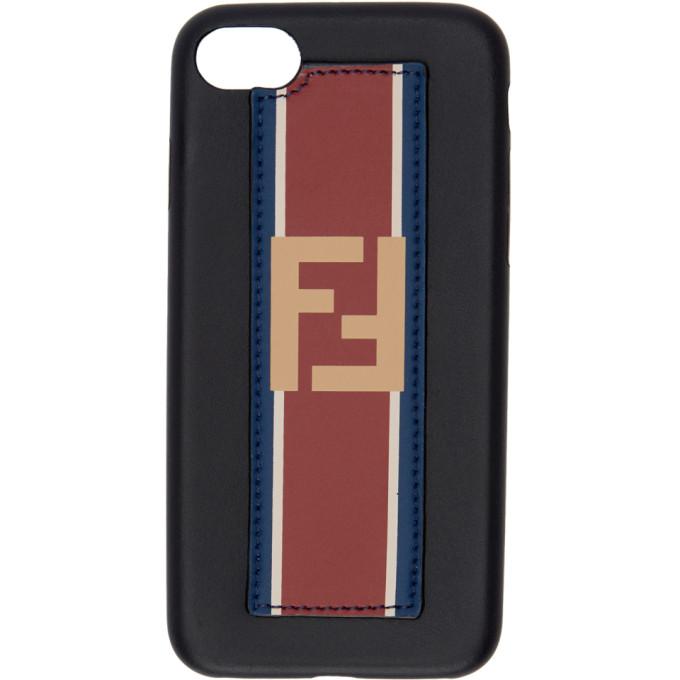 Fendi ブラック レザー Forever Fendi iPhone 6 ケース