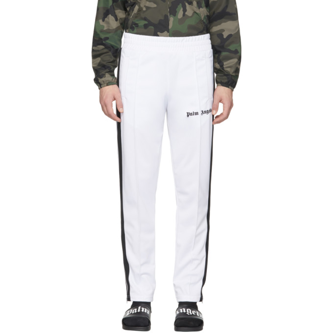 Palm Angels White Classic Track Pants