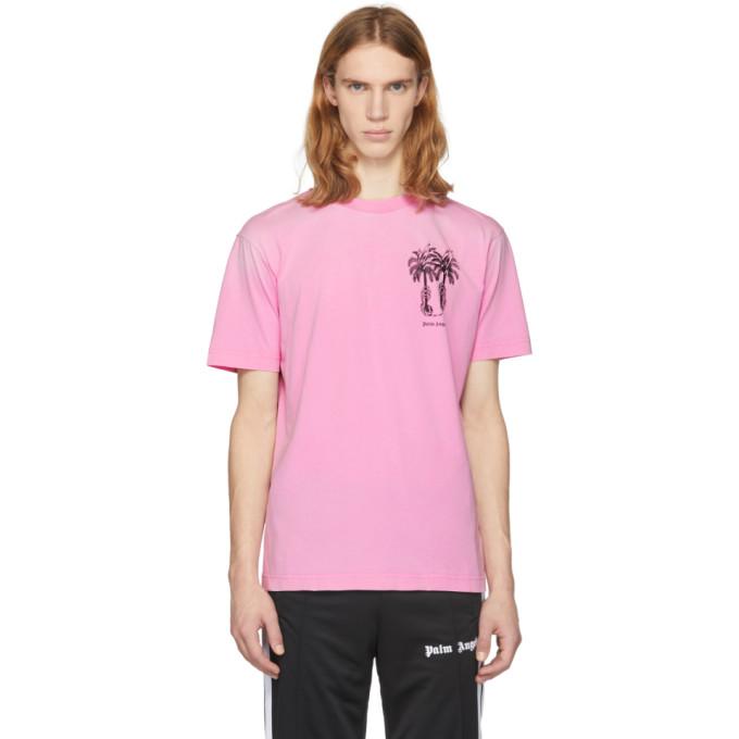 Palm Angels Pink Palms Capture T-Shirt