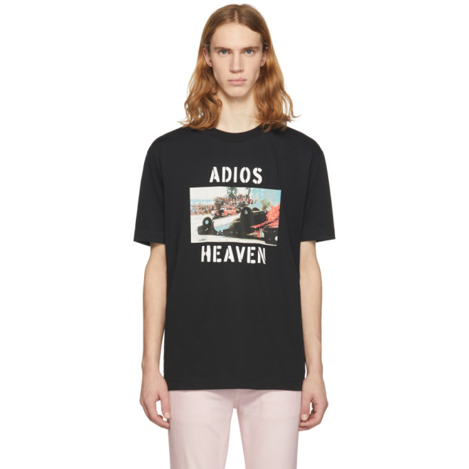 Image of Palm Angels Black Adios Heaven T-Shirt