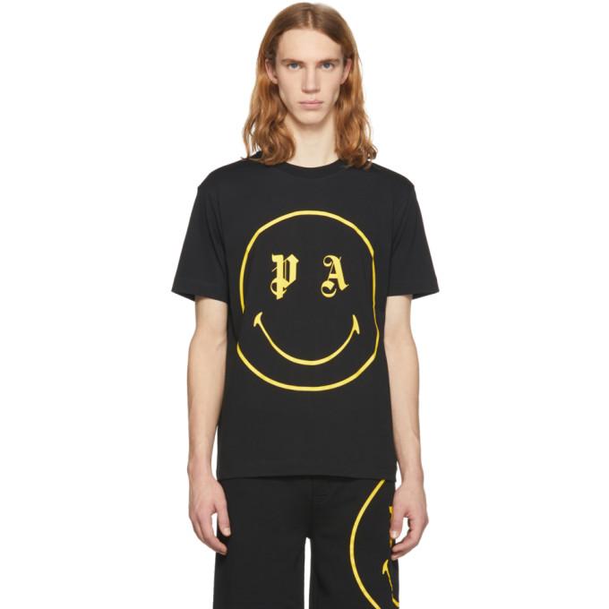 Palm Angels Black PA Smiling T-Shirt