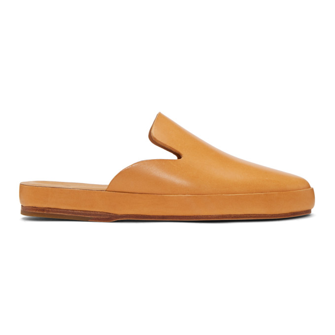 Image of Feit Tan Hand Sewn Slide Loafers