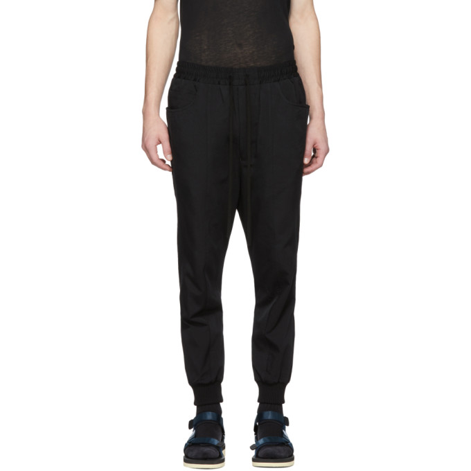 Image of Song for the Mute Black Panelled Track Pants
