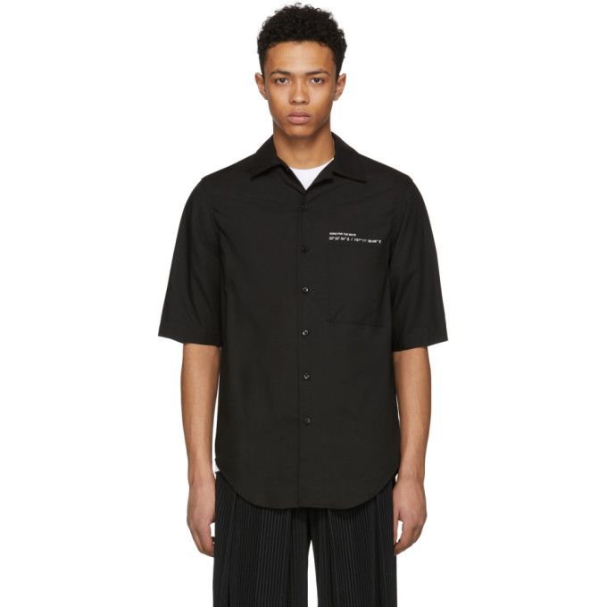 Image of Song for the Mute Black Short Sleeve Oversized Coordinates Shirt