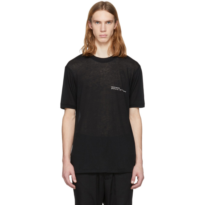 Image of Song for the Mute Black 'Coordinates' Slim T-Shirt