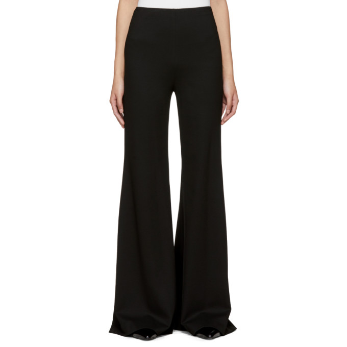 Image of Rosetta Getty Black Fitted Straight Flare Trousers